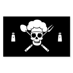 Chef Pirate Sticker (Rectangle 10 pk)