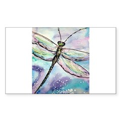 Dragonfly, Beautiful, Sticker (Rectangle 10 pk)