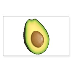 Avocado Sticker (Rectangle 10 pk)