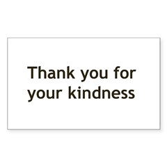 Thank you for your Kindnes Sticker (Rectangle 10 pk)