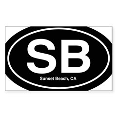 Sunset Beach Sticker (Rectangle 10 pk)