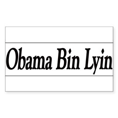 Obama Bin Lyin Sticker (Rectangle 10 pk)