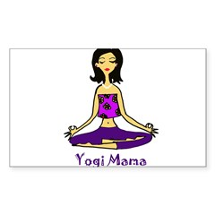 Yogi Mama Rectangle Sticker (Rectangle 10 pk)