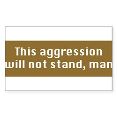 This Aggression Sticker (Rectangle 10 pk)