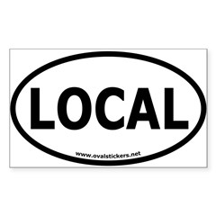 Local Oval Car Sticker (Rectangle 10 pk)