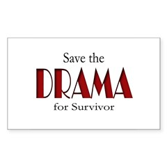 Drama on Survivor Sticker (Rectangle 10 pk)