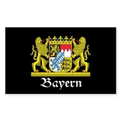 Black Bayern Sticker (Rectangle 10 pk)