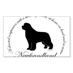 Devoted Black Newf Sticker (Rectangle 10 pk)