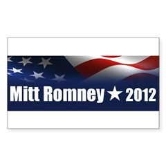 Mitt Romney 2012 Sticker (Rectangle 10 pk)