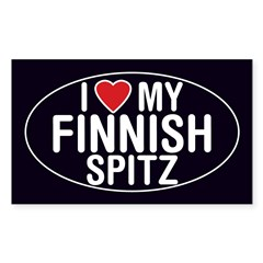 I Love My Finnish Spitz Oval Sticker/Decal Sticker (Rectangle 10 pk)