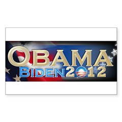 Obama Biden - Sticker (Rectangle 10 pk)