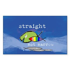 Straight But Not Narrow Oval Sticker (Rectangle 10 pk)