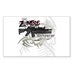 Zombie Whisperer Hunter M16 Sticker (Rectangle 10 pk)