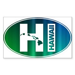 HI Hawaii - Sticker (Rectangle 10 pk)