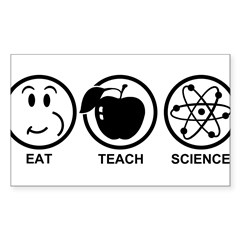 Science Teacher Sticker (Rectangle 10 pk)