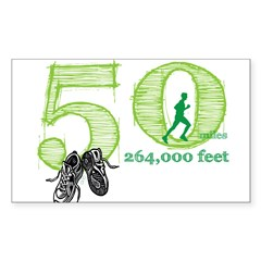 50 Mile Ultra Marathon Men Sticker (Rectangle 10 pk)