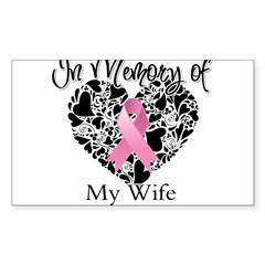 In Memory of My Wife Sticker (Rectangle 10 pk)