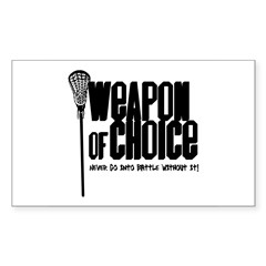 Lacrosse Rectangle Sticker (Rectangle 10 pk)
