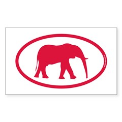 Alabama Red Elephant II Sticker (Rectangle 10 pk)