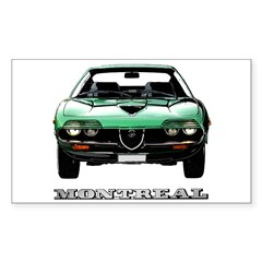 Alfa Romeo Montreal Sticker (Rectangle 10 pk)