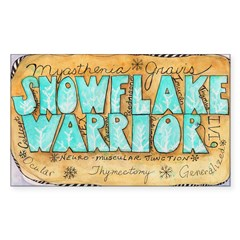 Snowflake Warrior Sticker (Rectangle 10 pk)