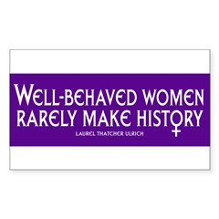 WELL-BEHAVED WOMEN Sticker (Rectangle 10 pk)