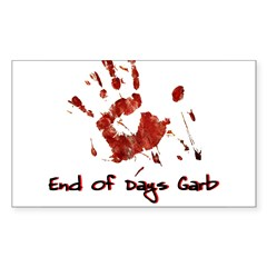 EODG Handprint Logo Sticker (Rectangle 10 pk)