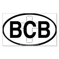 Baker's Chapel Oval Sticker (Rectangle 10 pk)