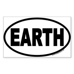 Earth Day EARTH Euro Oval Sticker (Rectangle 10 pk)