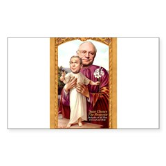 Saint Cheney Sticker for Votive Candle Sticker (Rectangle 10 pk)