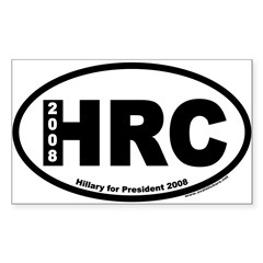 Hillary Clinton for President HRC Oval Sticker (Rectangle 10 pk)