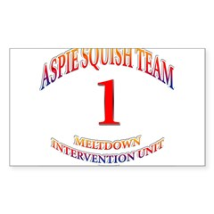 Aspie Squish Team Oval Sticker (Rectangle 10 pk)