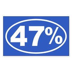 47 Percent Sticker (Rectangle 10 pk)