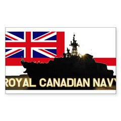 Royal Canadian Navy Rectangle Sticker (Rectangle 10 pk)