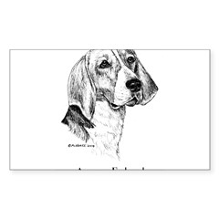 American Foxhound Sticker (Rectangle 10 pk)
