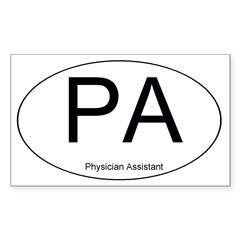Physician Assistant Oval Sticker (Rectangle 10 pk)