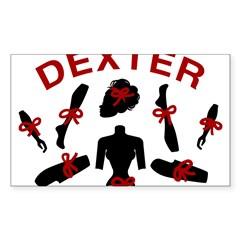 Dexter Dismembered Doll Sticker (Rectangle 10 pk)