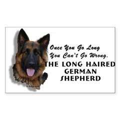 New Item! Long Haired German Shepherd Sticker (Rectangle 10 pk)