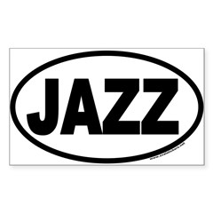 JAZZ Euro Oval Sticker (Rectangle 10 pk)
