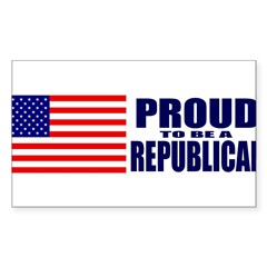 Proud to be a Republican Sticker (Rectangle 10 pk)