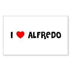 I LOVE ALFREDO Sticker (Rectangle 10 pk)