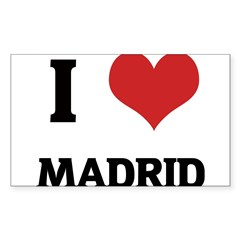 I Love Madrid Rectangle Sticker (Rectangle 10 pk)