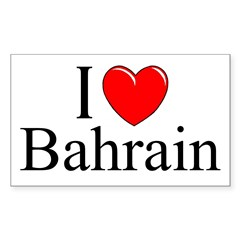 """I Love Bahrain"" Rectangle Sticker (Rectangle 10 pk)"