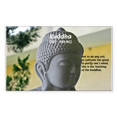 Eastern Philosophy: Buddha Rectangle Sticker (Rectangle 10 pk)