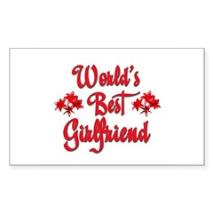 World's Best Girlfriend Rectangle Sticker (Rectangle 10 pk)