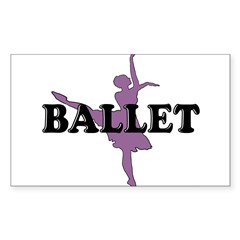 Female Ballet Silhouette Rectangle Sticker (Rectangle 10 pk)