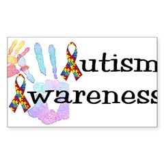 Autism Awareness Rectangle Sticker (Rectangle 10 pk)