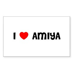 I LOVE AMIYA Sticker (Rectangle 10 pk)