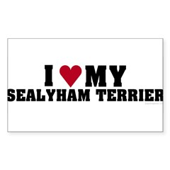 I Love My Sealyham Terrier Sticker (Rectangle 10 pk)