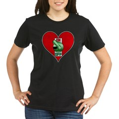 Heart On Organic Women's T-Shirt (dark)